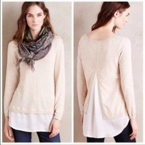 NEW Anthro Angel of the North Duet sweater